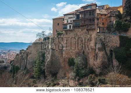 Hanging Houses In Cuenca, Castilla La Mancha, Spain