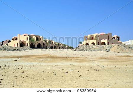 typical building in the Egyptian desert