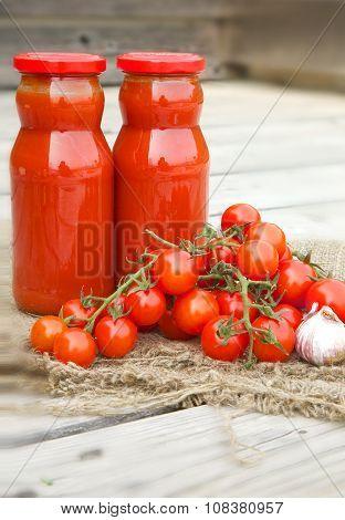 Cherry Tomatoes And Italian Salsa