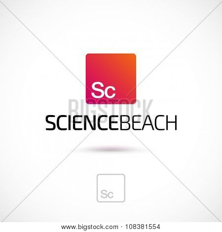 Vector logo design, science element symbol icon. Logotype template.