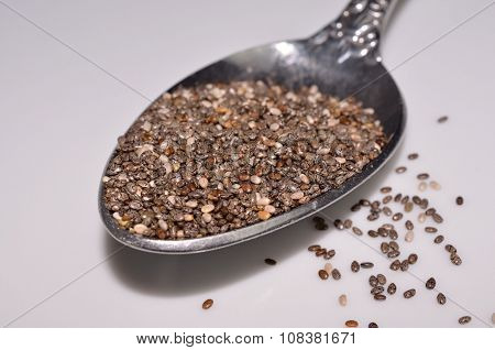 Healthy nutritious chia seeds