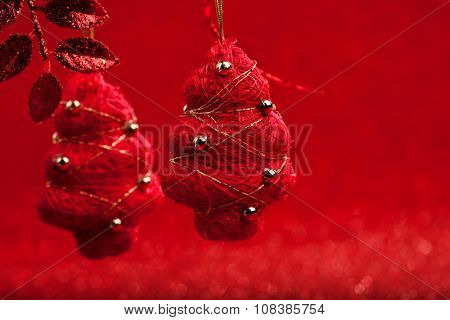 fir-tree on abstract christmas background