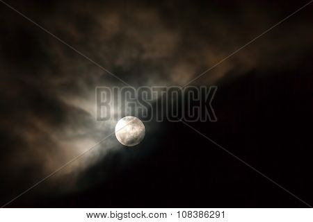 Sky With Moon And Clouds