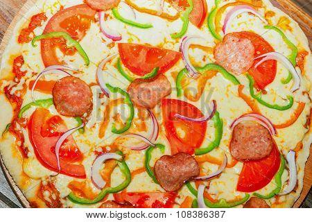 Homemade Delicious Pizza
