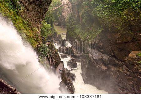 Devils Cauldron Waterfall, Ecuador