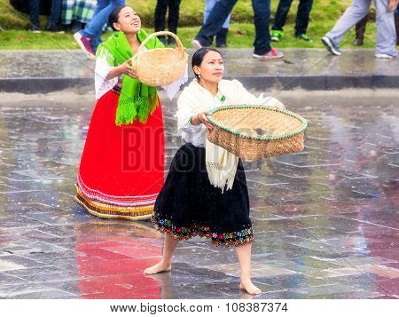 Indigenous Women Celebrating Inti Raymi