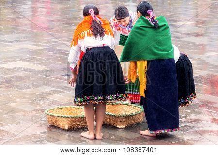 Unidentified Group Of Indigenous Women Celebrating