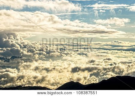 Cloudscape At Sunset, High Altitude