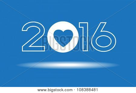 Creative happy new year 2016 design. New Year background.  The file is saved in the version 10 EPS.