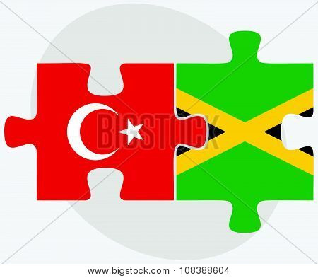 Turkey And Jamaica Flags