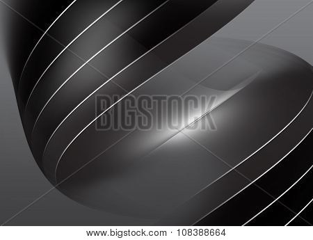 Monochromatic Gray Background With Surfaces And White Lines Iv