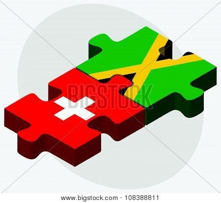 Switzerland And Jamaica Flags