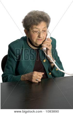 Senior Woman Telephone