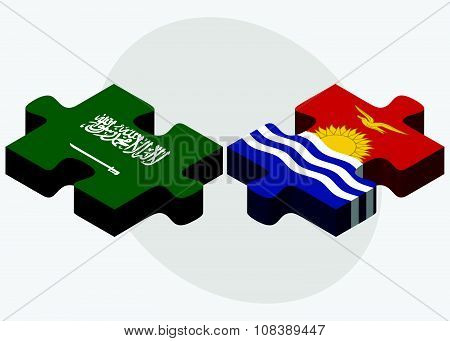 Saudi Arabia And Kiribati Flags