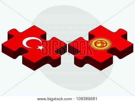 Turkey And Kyrgyzstan Flags