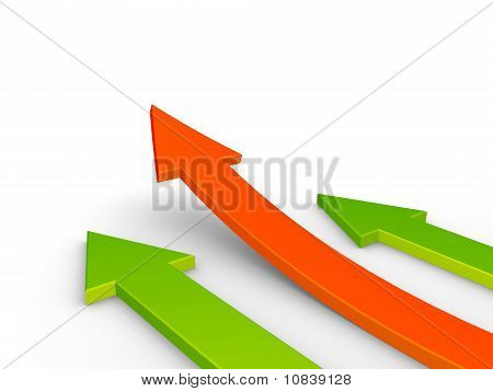 3d arrows, financial growth concept