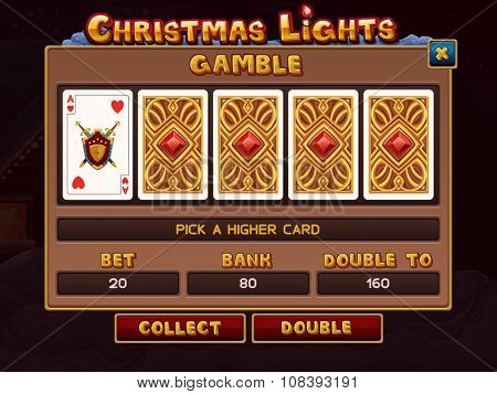 Gamble for slots game. Vector illustration