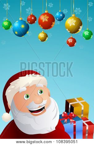 santa claus who seems happy on christmas