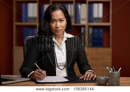 Indonesian female lawyer