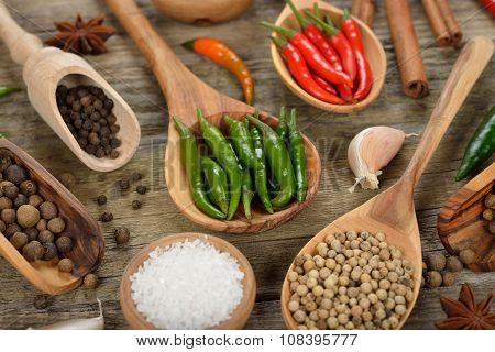 Various Spices And Seasonings