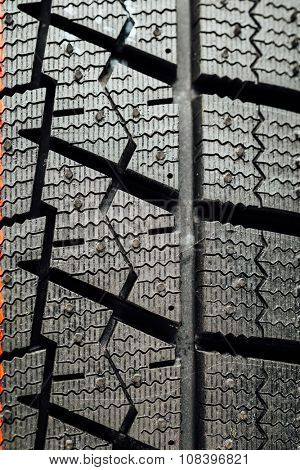 studless winter tire protector, closeup view