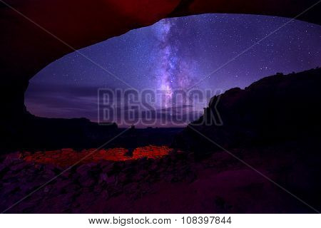 False Kiva And A Milky Way Island In The Sky