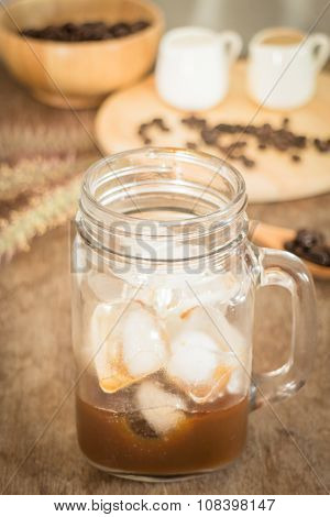 Preparing Glass Of Cold Coffee