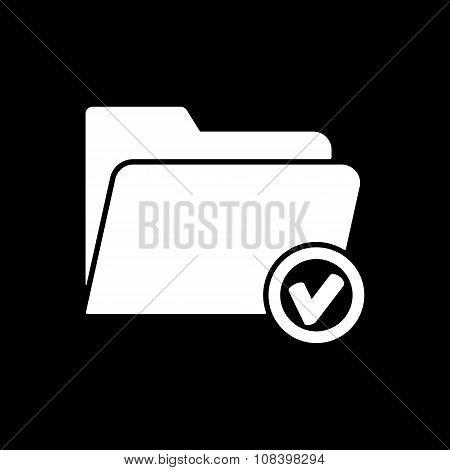 The folder icon. File symbol. Flat