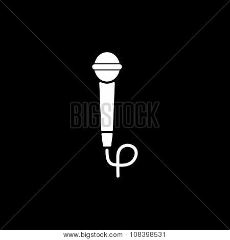 The microphone icon. Sound symbol. Flat
