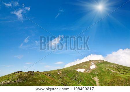 Summer Mountain Ridge (ukraine, Carpathian Mountains)