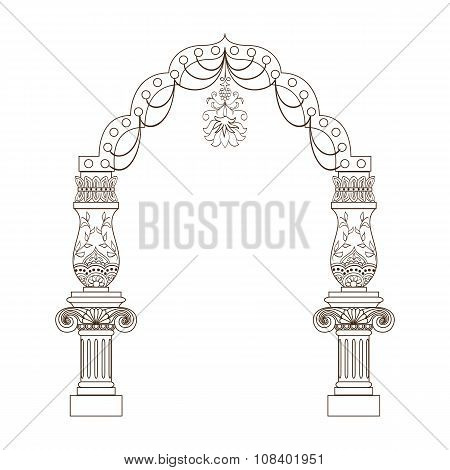 Luxuriously decorated archway