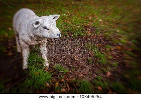 Little sheep sculpture