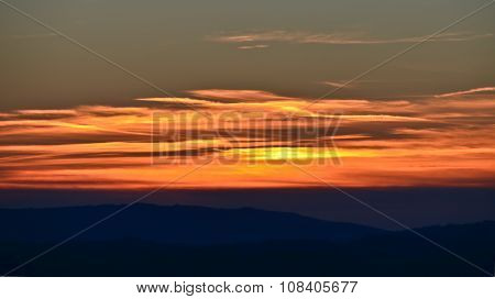 Sunset Over The Tuscan Hills