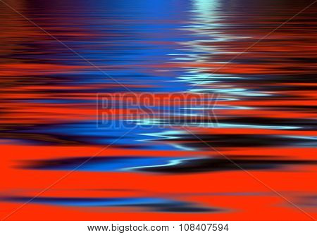 Vivid abstract wave pattern in red and blue