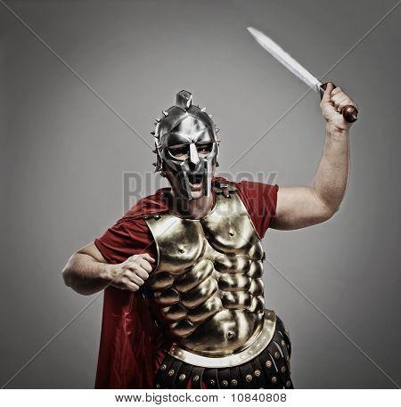 Legionary soldier ready for a war