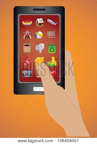 Smart Phone Software Applications Icon Vector Illustration
