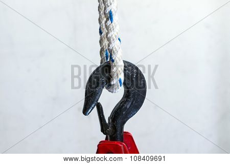 Close Up Of Heavy-duty Steel Hook