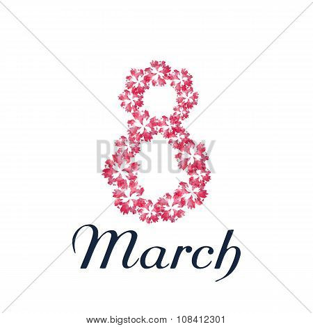 Congratulation or greeting card for women's day