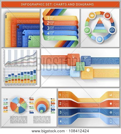 Set Of Charts, Templates, And Infographic.