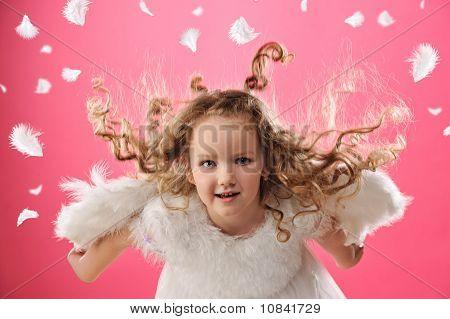 Hermosa niña Ángel