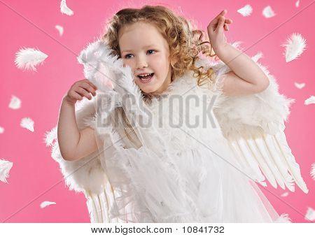 Schöne Engel-Mädchen