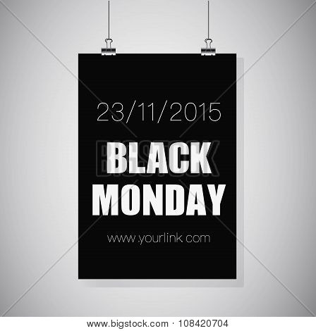 Black Monday Hanging Sale.