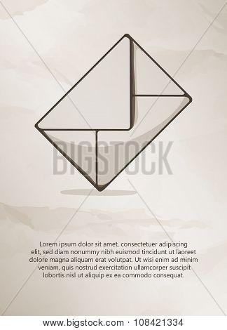Envelope on grunge background.