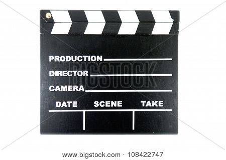 clap board on white background