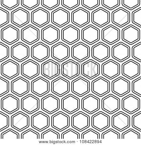 Seamless monochromatic hexagon pattern
