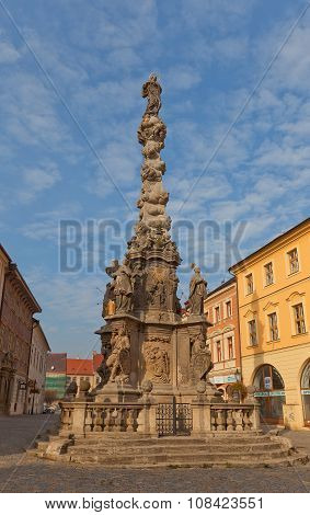 Plague Column (1716) In Kutna Hora, Czech Republic
