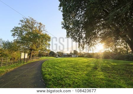 Traveling In The Hotham Park, Bognor Regis, United Kingdom