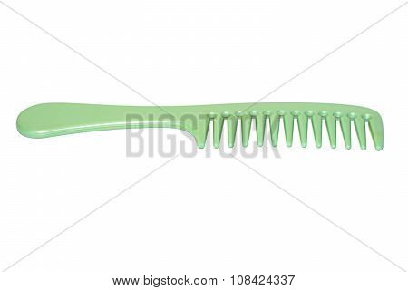 Green hair comb