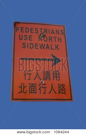 Bilingual Pedestrians Use Other Sidewalk