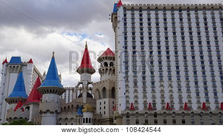 Towers of the Excalibur Hotel and Casino in Las Vegas